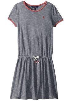 Ralph Lauren: Polo Striped Jersey T-Shirt Dress (Little Kids/Big Kids)