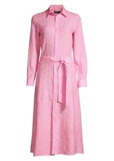 Ralph Lauren: Polo Striped Linen Shirtdress