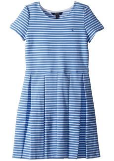 Ralph Lauren: Polo Striped Pleated Ponte Dress (Big Kids)