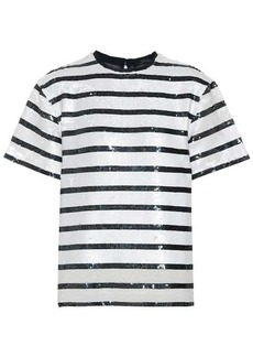 Ralph Lauren: Polo Striped sequined T-shirt