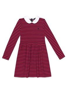 Ralph Lauren: Polo Striped stretch-cotton dress