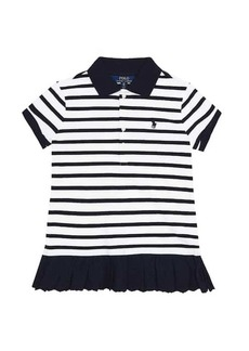 Ralph Lauren: Polo Striped stretch-cotton dress