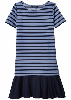 Ralph Lauren: Polo Striped Stretch Ponte Dress (Little Kids/Big Kids)