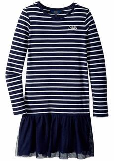 Ralph Lauren: Polo Striped Terry-Tulle Dress (Little Kids/Big Kids)