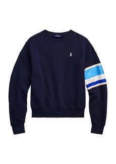 Ralph Lauren: Polo Striped-Trim Fleece Sweatshirt