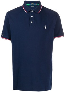 Ralph Lauren Polo striped-trim logo-embroidered polo shirt