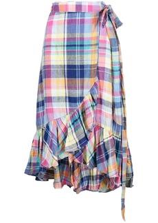Ralph Lauren: Polo tartan print wrap skirt
