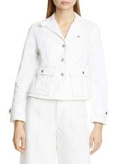 Ralph Lauren: Polo Tessie Crop Denim Blazer