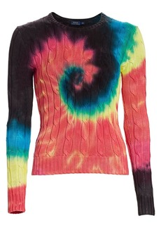 Ralph Lauren: Polo Tie Dye Long Sleeve Cotton Sweater