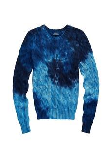 Ralph Lauren: Polo Tie Dye Wool-Blend Cable Knit Sweater