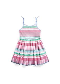 Ralph Lauren: Polo Toddler Girls Striped Oxford Dress