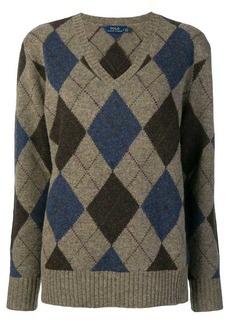 Ralph Lauren: Polo V-neck argyle sweater