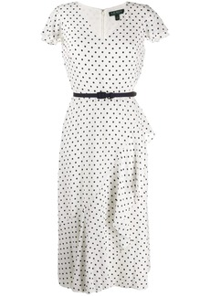 Ralph Lauren: Polo V-neck polka dot dress