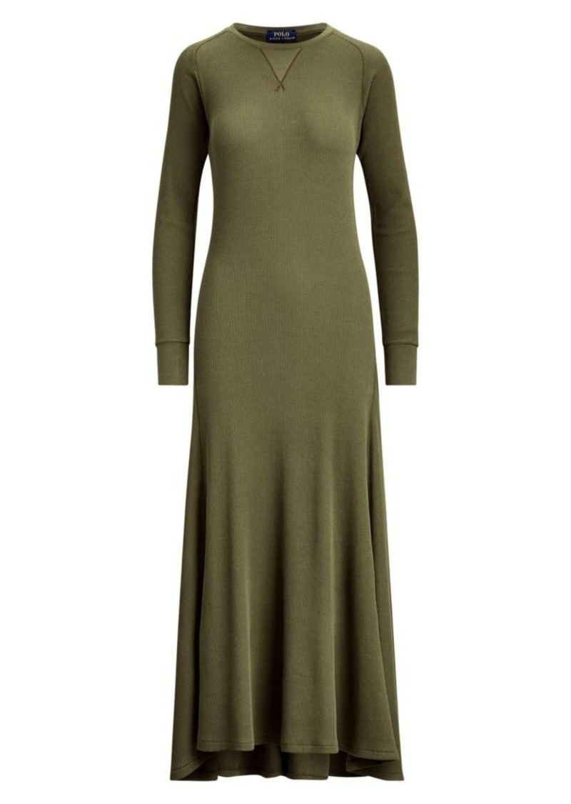 Ralph Lauren: Polo Waffle-Knit Raglan Sleeve Dress