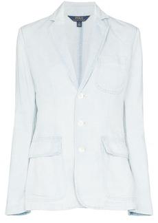 Ralph Lauren: Polo washed denim-effect blazer