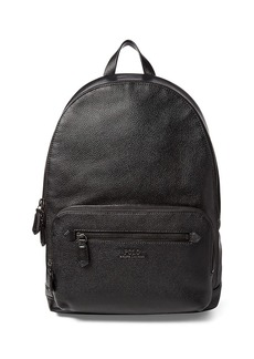 Ralph Lauren Polo Web Strap Pebbled Leather Backpack