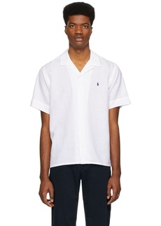 Ralph Lauren Polo White Camp Short Sleeve Shirt