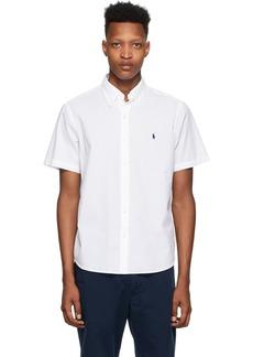 Ralph Lauren Polo White Seersucker Classic Fit Shirt