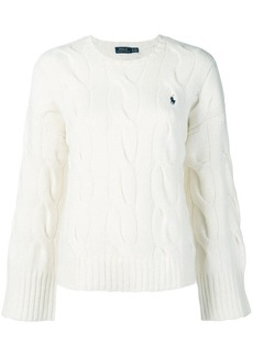Ralph Lauren: Polo wide sleeve cable knit sweater