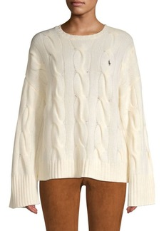 Ralph Lauren: Polo Wool & Cashmere Cable Knit Sweater
