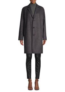 Ralph Lauren: Polo Wool-Blend Plaid Peacoat