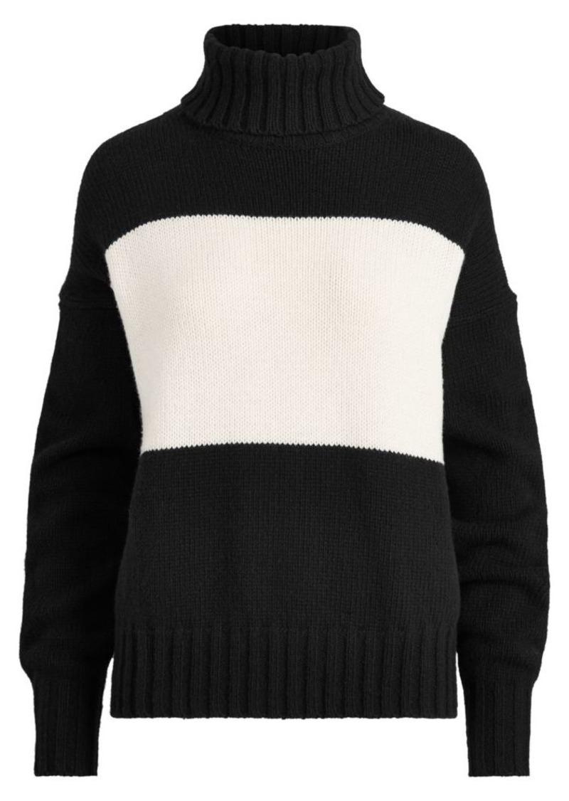 Ralph Lauren: Polo Wool Colorblock Turtleneck
