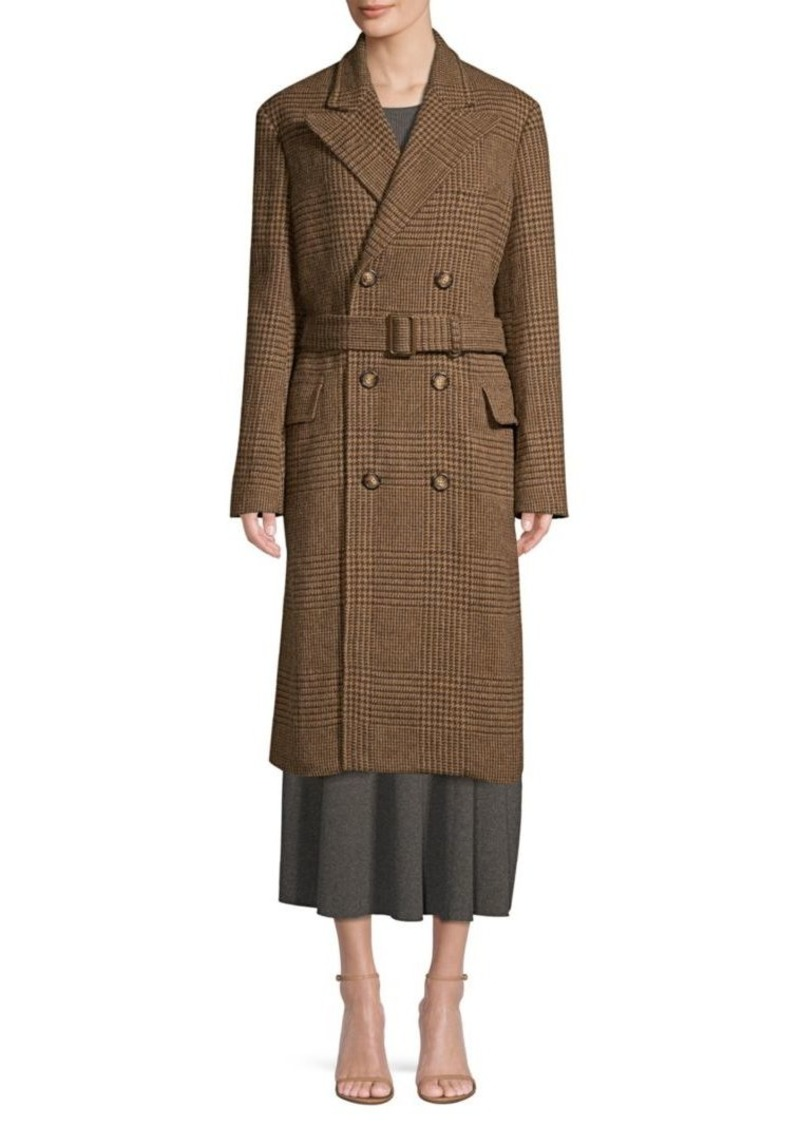 Wool Houndstooth Coat Wool Houndstooth Trench 0XwZON8nPk