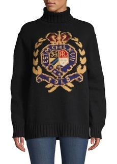 Ralph Lauren: Polo Wool Logo Crest Turtleneck