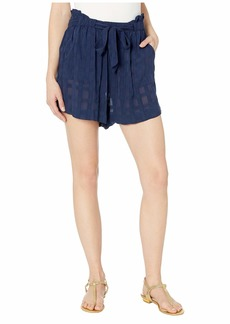 Ralph Lauren: Polo Woven Plaid Tie Shorts Cover-Up