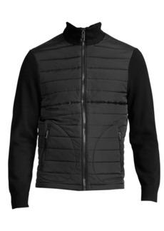 Ralph Lauren Polo Zip-Front Hybrid Sweater Jacket