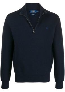 Ralph Lauren Polo zipped high-neck jumper
