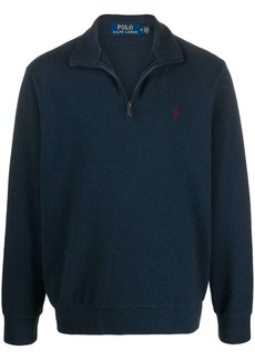 Ralph Lauren Polo zipped high-neck jumper