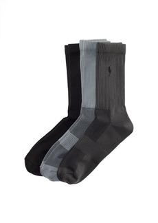 Ralph Lauren Poly Tech Crew Sock 3-Pack