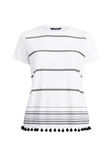 Ralph Lauren Pom-Pom-Trim Shirt