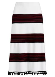 Ralph Lauren Pom-Pom-Trim Skirt