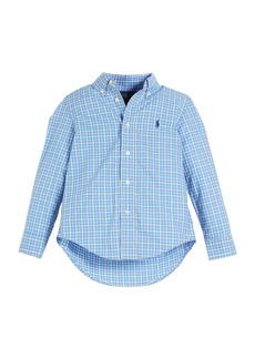 Ralph Lauren Poplin Plaid Button-Down Shirt