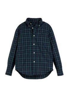 Ralph Lauren Poplin Plaid Button-Down Shirt  Size 5-7
