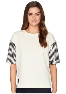 Ralph Lauren Poplin-Sleeve Jersey T-Shirt