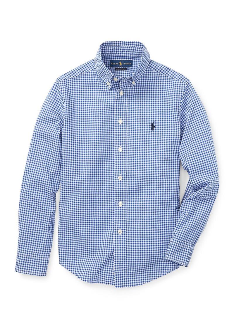 Ralph Lauren Poplin Woven Gingham Sport Shirt  Size S-XL