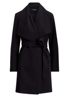 Ralph Lauren Portrait-Collar Crepe Coat