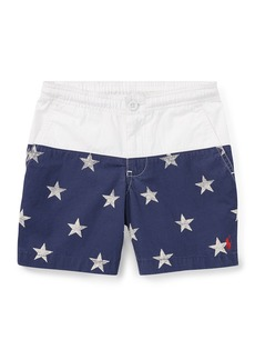 Ralph Lauren Prepster Colorblock Star Shorts  Size 5-7