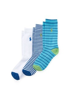 Ralph Lauren Prepster Stripe Sock 3-Pack