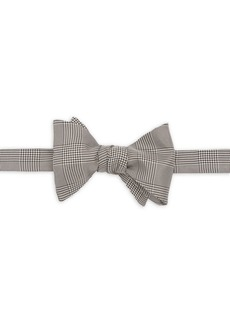 Ralph Lauren Prince of Wales Silk Plaid Bow Tie