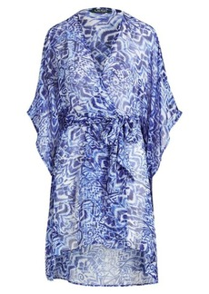Ralph Lauren Print Chiffon Wrapped Cover-Up