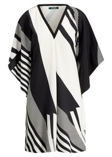 Ralph Lauren Print Crepe Shift Dress