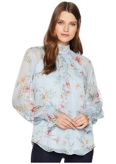 Ralph Lauren Print Georgette Top