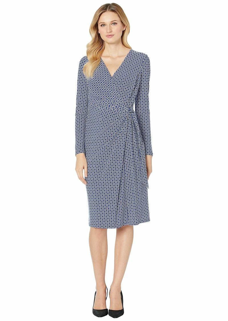 Ralph Lauren Print Jersey Long Sleeve Dress