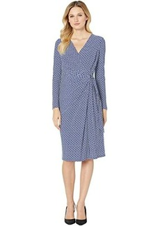 Ralph Lauren Print Jersey Long Sleeve Dress