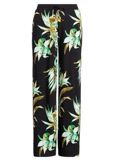 Ralph Lauren Print Jersey Wide-Leg Pant