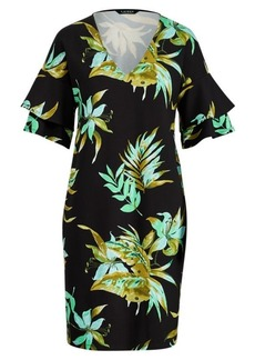 Ralph Lauren Print Ponte Shift Dress
